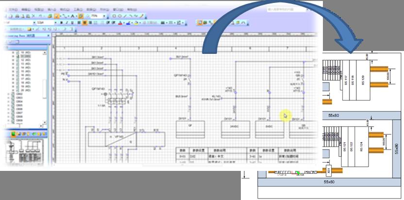 设计标准,规范,电子化电路图册所具备的导航及器件定位功能,为项目
